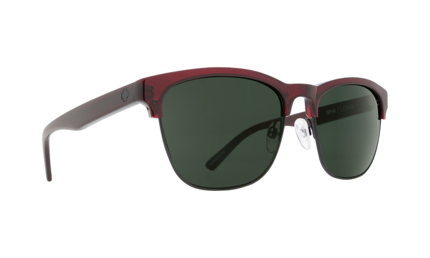 LOMA TRANSLUCENT GARNET/MATTE BLACK - HAPPY GRAY GREEN