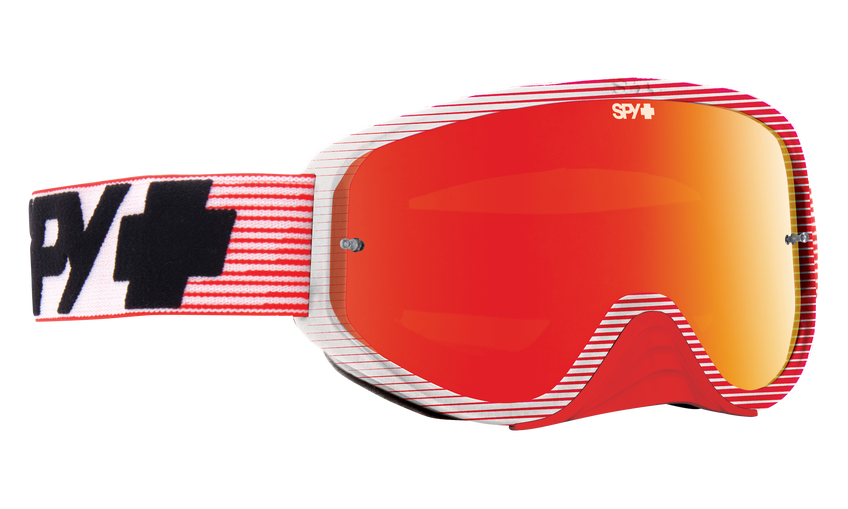 Woot Race Mx Goggle - Red Flash/Smoke with Red Spectra + Clear AFP