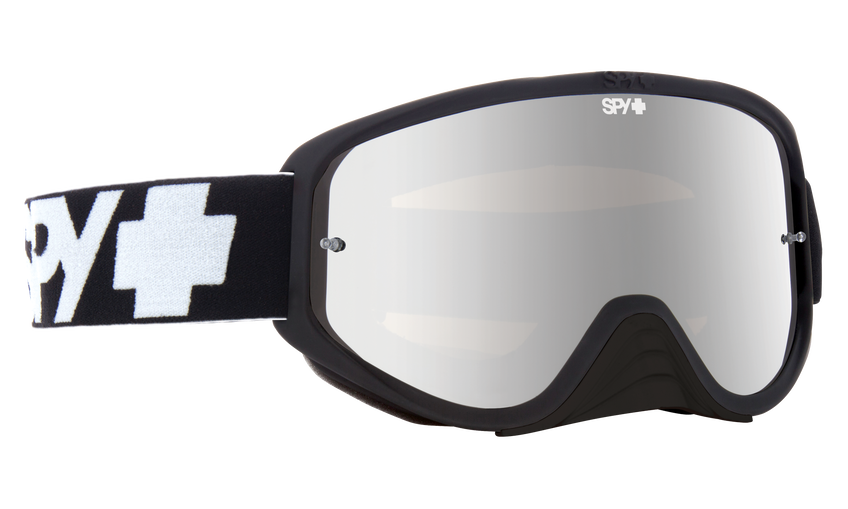 Woot Race Mx Goggle - Black/Smoke with Silver Spectra + Clear AFP
