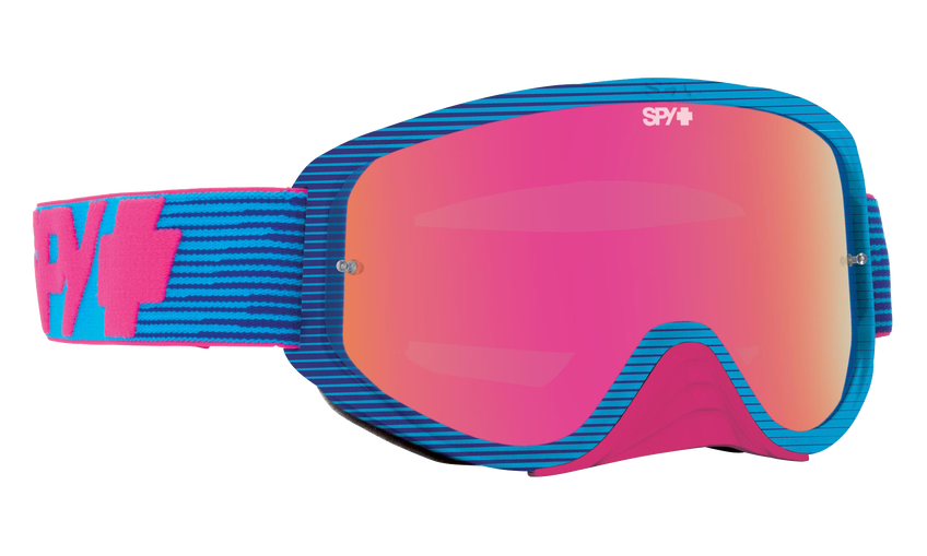 Woot Race Mx Goggle - Pink Flash/Smoke with Pink Spectra + Clear AFP