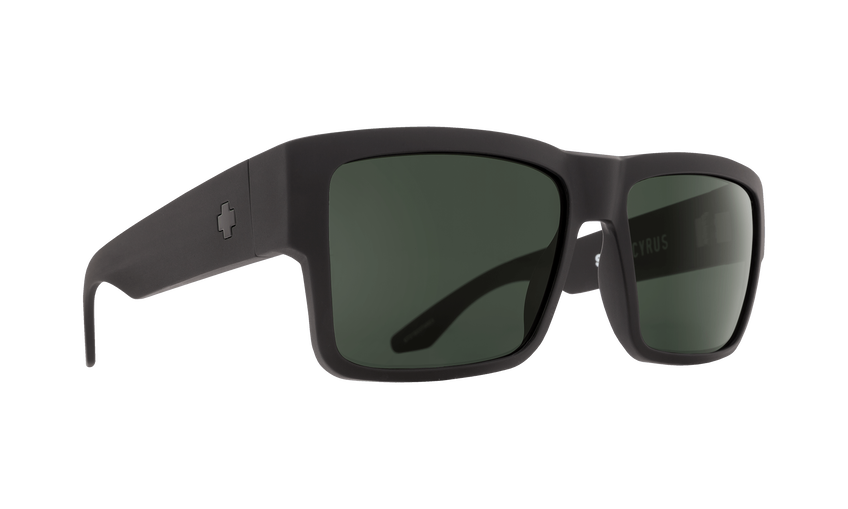 CYRUS MATTE BLACK - HAPPY GLASS GRAY GREEN POLAR