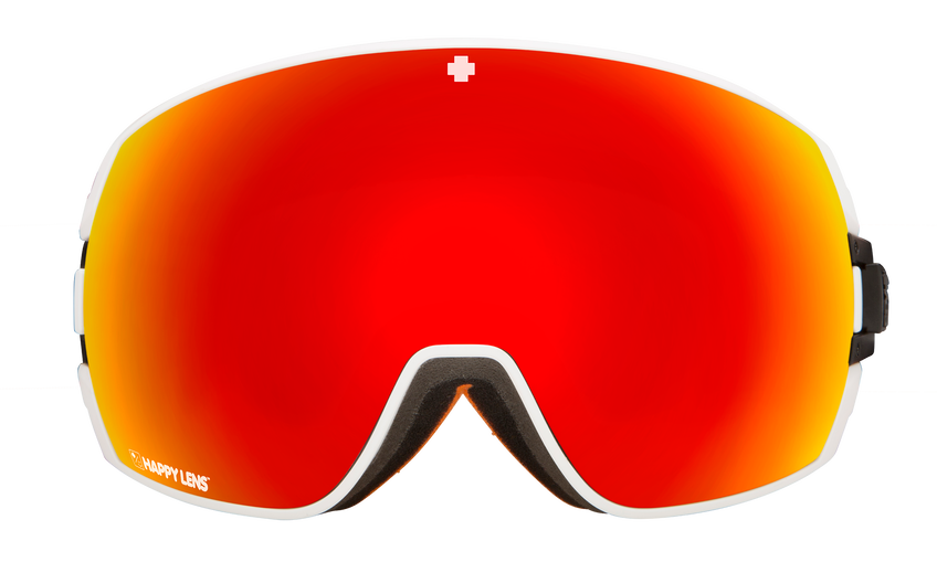 Legacy Snow Goggle - Old School White/Happy Gray Green with Red Spectra + Happy Persimmo