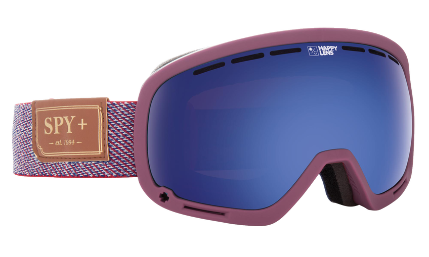 Marshall Snow Goggle - Hunter Red/Happy Rose with Dark Blue Spectra + Happy Gray Green with Lucid Red