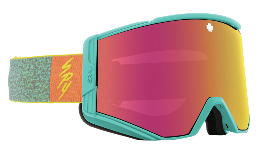 Ace Snow Goggle - Neon Pop/HD Plus Bronze with Pink Spectra Mirror + HD Plus LL Persimmon with Silver Spectra Mirror