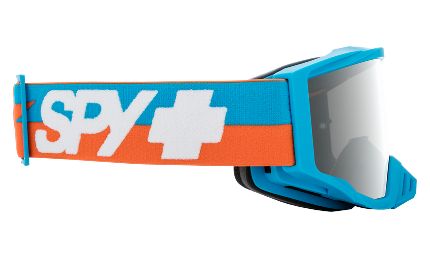 Foundation Mx Goggle - Bolt Blue/HD Smoke with Silver Spectra Mirror - HD Clear