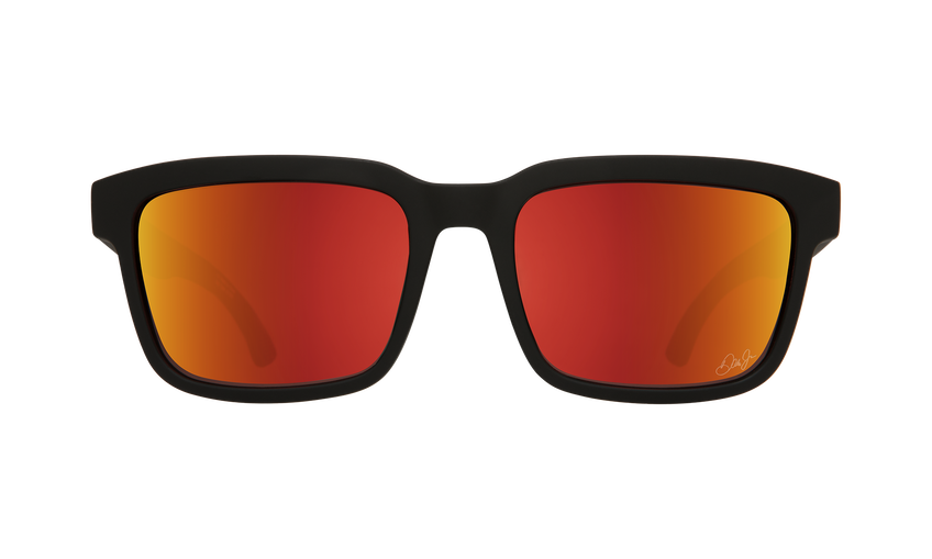Helm 2 - SPY + Dale Jr Matte Black/HD Plus Gray Green with Orange Spectra Mirror