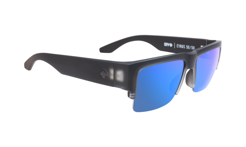 Cyrus 5050 - Matte Black Ice/HD Plus Gray Green with Dark Blue Spectra Mirror