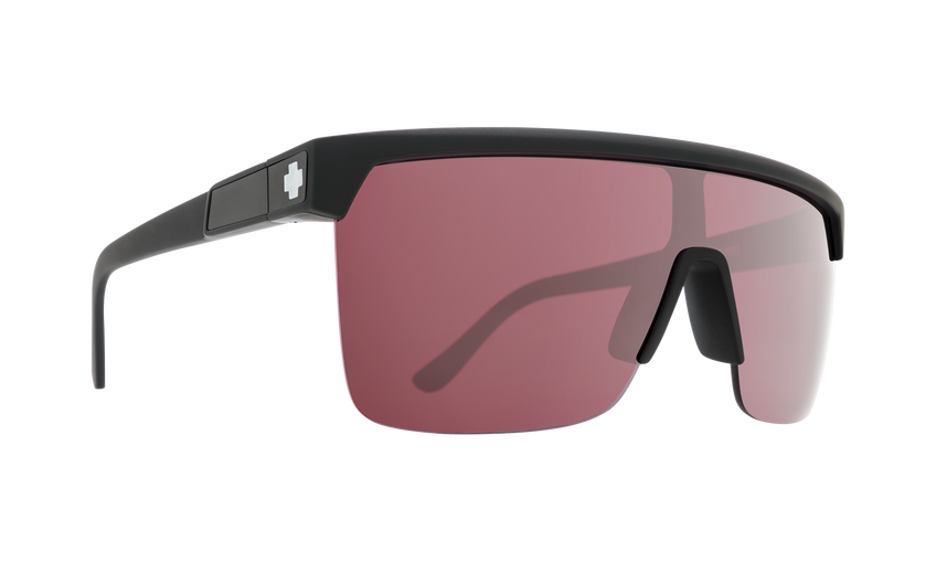 Flynn 5050 Matte Black - HD Plus Rose with Silver Spectra Mirror