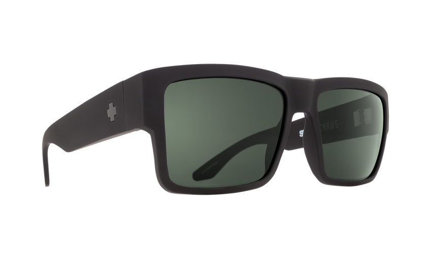 Cyrus - Soft Matte Black/HD Plus Gray Green Polar