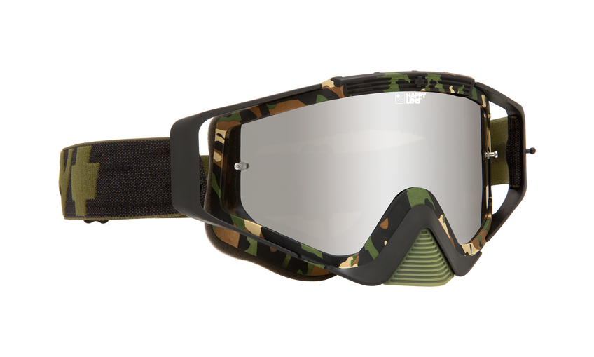 Omen Mx Goggle - Matte Fatigue/Happy Bronze with Silver Spectra AFP + Clear AFP
