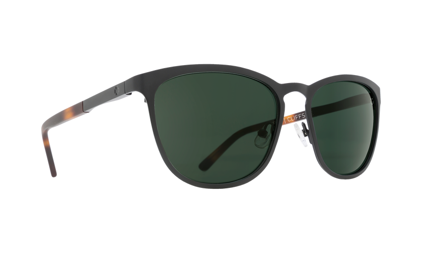 CLIFFSIDE MATTE BLACK/MATTE HONEY TORT - HAPPY GRAY GREEN POLAR