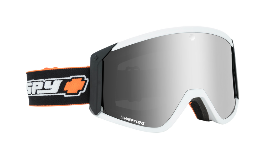 Raider Snow Goggle - Old School White/Happy Bronze with Silver Spectra (VLT:15%) + Persimmon (VLT:53%)