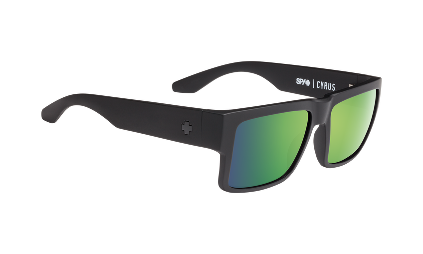 Cyrus - Soft Matte Black/HD Plus Bronze Polar with Green Spectra Mirror