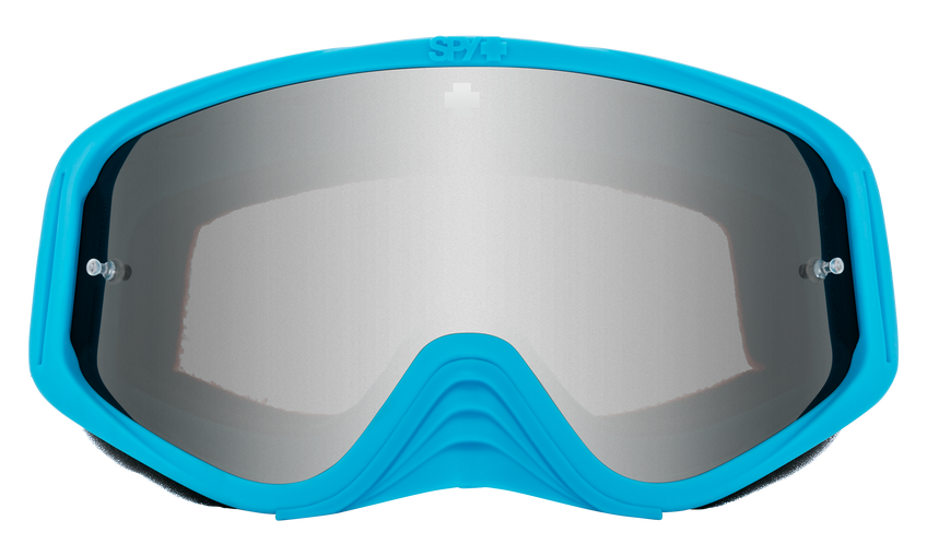 Woot Race Mx Goggle - Bolt Blue/HD Smoke with Silver Spectra Mirror - HD Clear