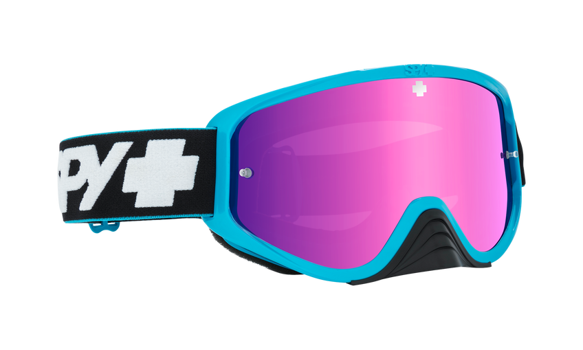 Woot Race Mx Goggle - Slice Blue/Smoke w/ Pink Spectra + Clear AFP