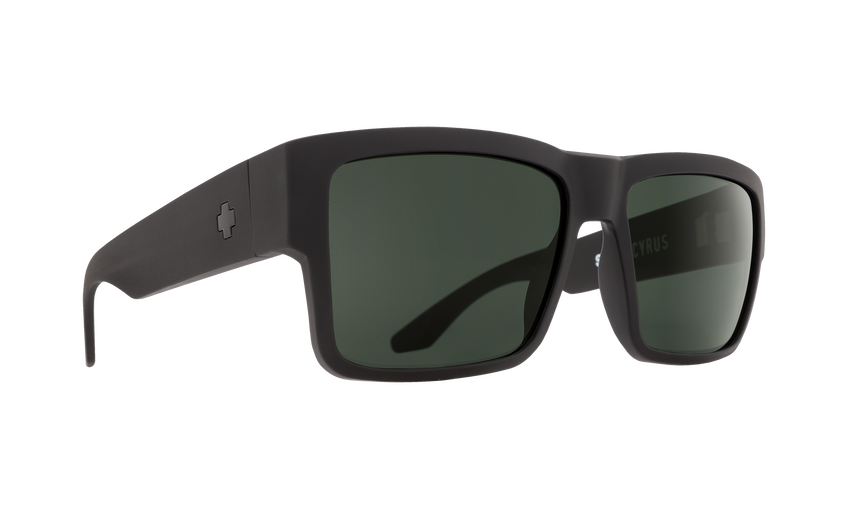 Cyrus Matte Black - HD Plus Gray Green