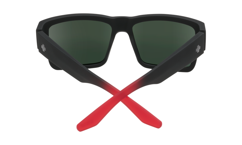 Cyrus - Soft Matte Black Red Fade/HD Plus Gray Green w/ Red Light Spectra Mirror