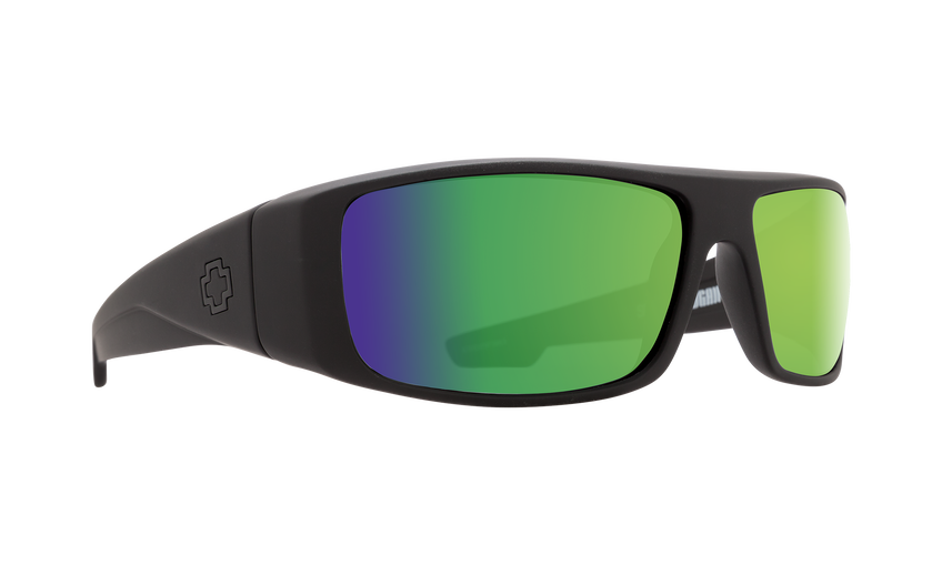 Logan Matte Black - HD Plus Bronze Polar with Green Spectra Mirror