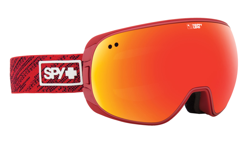 Doom Snow Goggle - Knit Red/Happy Gray Green with Red Spectra + Happy Yellow with Lucid Green
