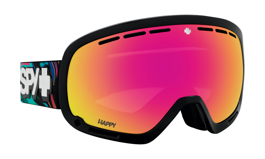 Marshall Snow Goggle - Psychedelic/Happy ML Rose with Pink Spectra Mirror