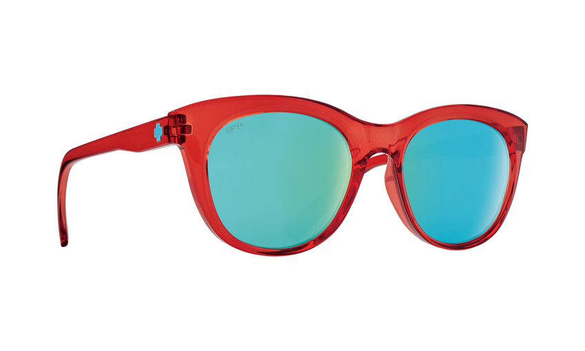 Boundless - Translucent Red/Bronze with Light Blue Spectra Mirror