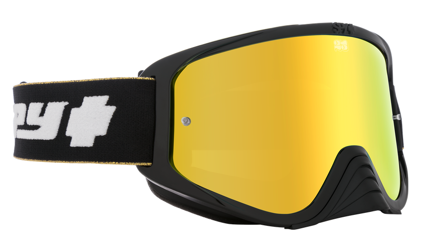 Woot Race Mx Goggle - 25th Anniversary Black Gold/HD Bronze with Gold Spectra Mirror - HD Clear