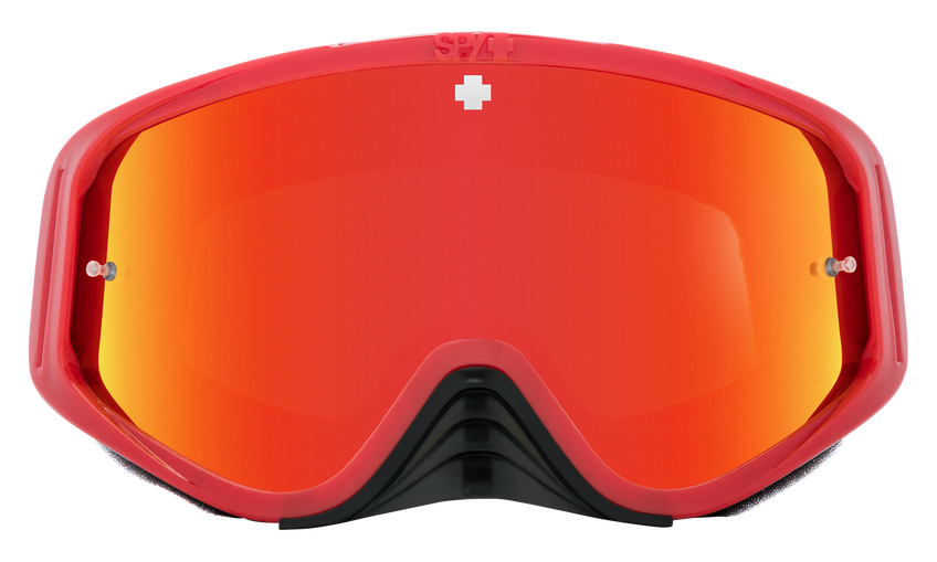 Woot Race Mx Goggle - Checkers Red/HD Smoke with Red Spectra Mirror - HD Clear