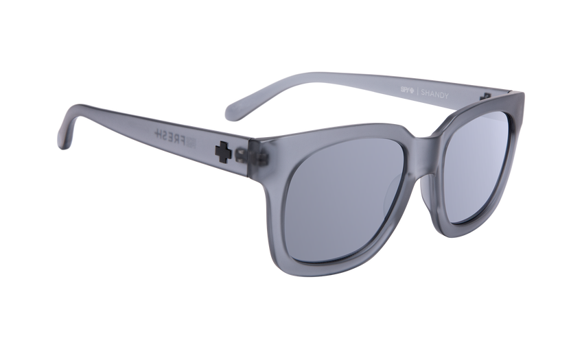 Shandy - Matte Translucent Gray/Gray with Silver Mirror
