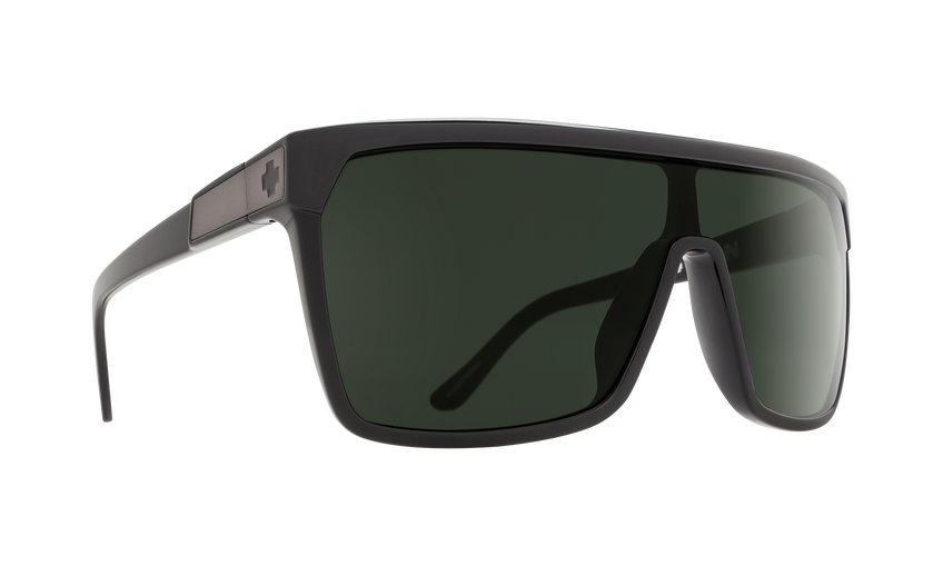 FLYNN SHINY BLACK/MATTE BLACK - HAPPY GRAY GREEN