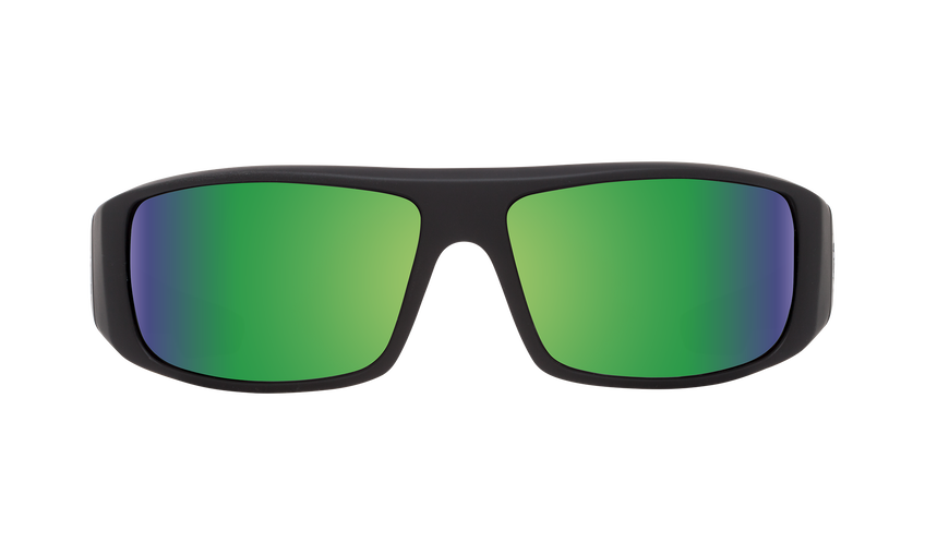 Logan - Matte Black/HD Plus Bronze Polar with Green Spectra Mirror