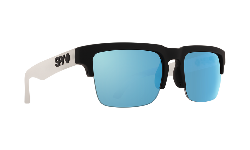 Helm 5050 - Matte Black Clear/HD Plus Gray Green with Light Blue Spectra Mirror