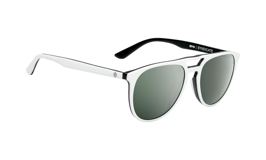 Syndicate - Matte White/Black/Happy Gray Green with Silver Spectra