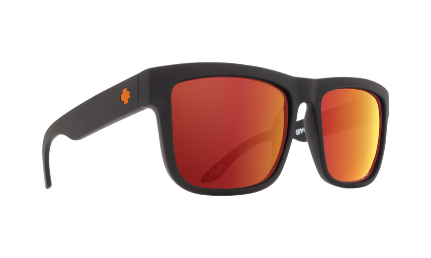 Discord - SPY + Dale Jr Matte Black/HD Plus Gray Green with Orange Spectra Mirror