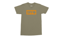 Boxed In Tee, Olive w/ Orange, hi-res