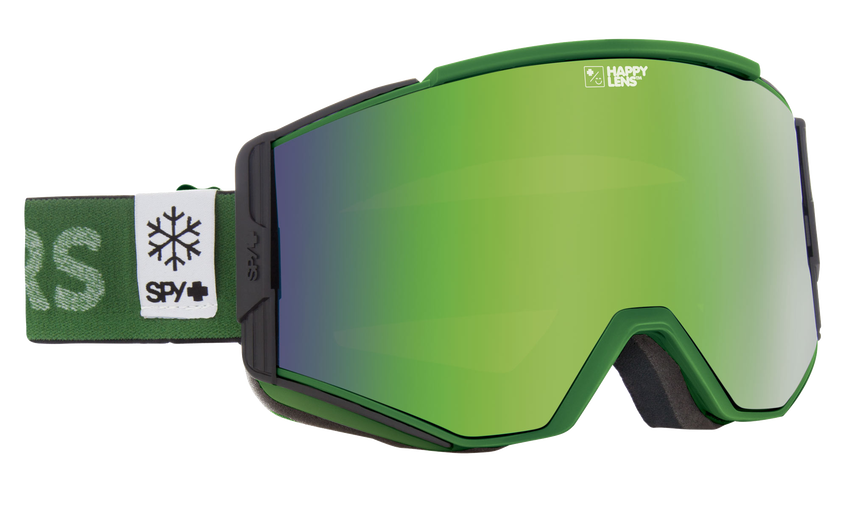 Ace Snow Goggle - Spy + POW/Happy Bronze with Green Spectra + Happy Persimmon with Lucid Silver