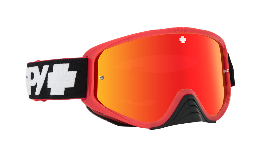 Woot Race Mx Goggle - Slice Red/Smoke w/ Red Spectra + Clear AFP