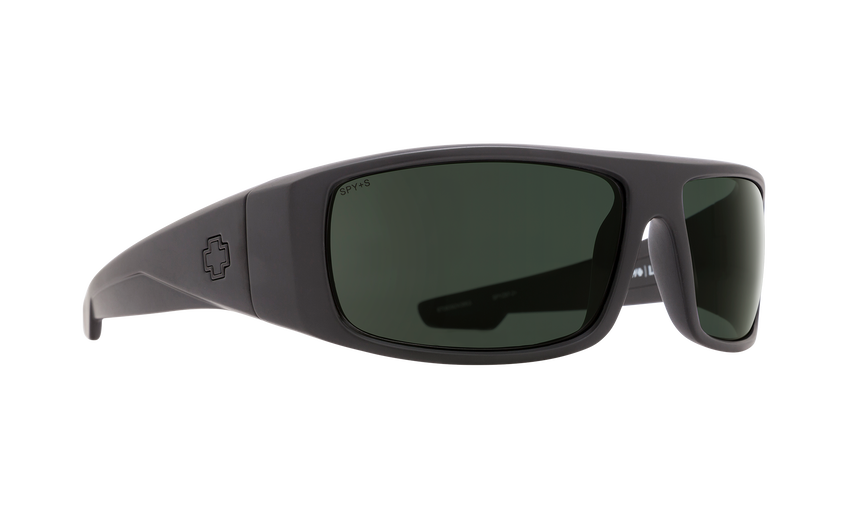 Logan Matte Black ANSI RX - HD Plus Gray Green