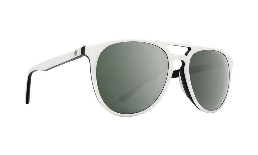 Syndicate Matte White/Black-Happy Gray Green W/Silver Spectra Mirror