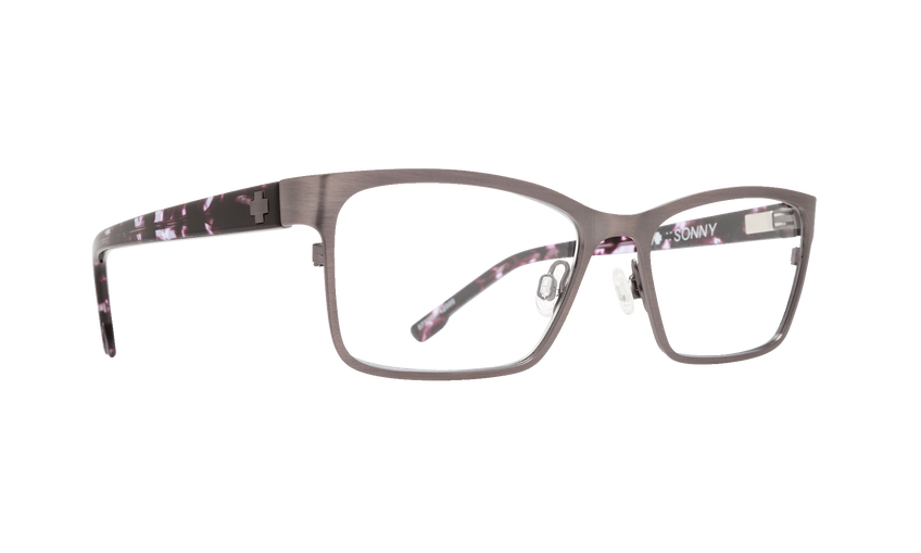 SONNY 52 - BRUSHED GUNMETAL/PURPLE CAMO TORT