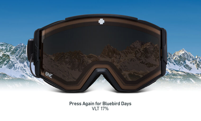 Ace EC Snow Goggle - Black/Electrochromic ONE Lens™ - Persimmon