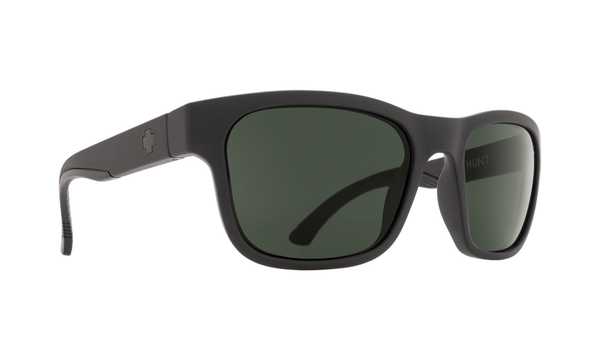 HUNT MATTE BLACK - HAPPY GLASS GRAY GREEN POLAR