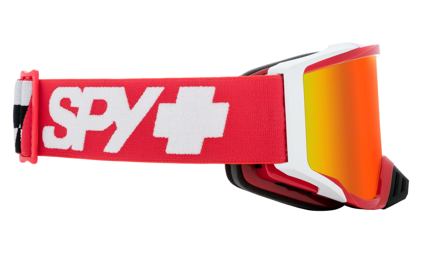Foundation Mx Goggle - Checkers Red/HD Smoke with Red Spectra Mirror - HD Clear