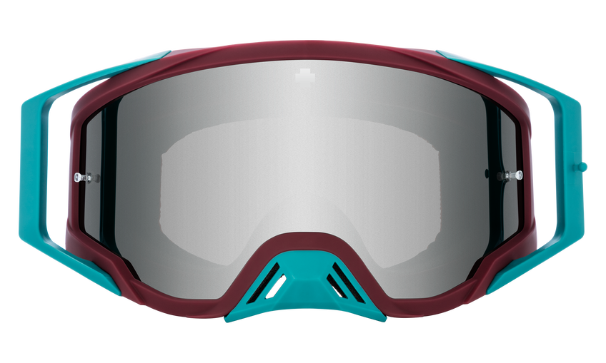 Foundation Mx Goggle - Bolt Teal/HD Smoke with Silver Spectra Mirror - HD Clear
