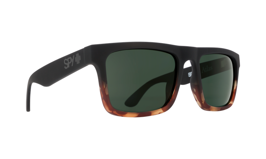 Atlas Soft Matte Black Tort Fade - HD Plus Gray Green