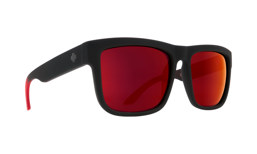 Discord Soft Matte Black Red Fade - HD Plus Gray Green with Red Light Spectra Mirror