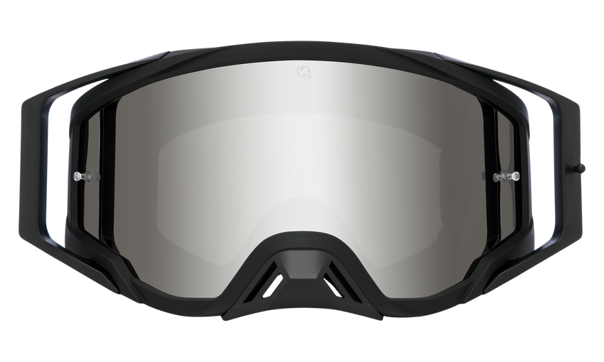 Foundation Mx Goggle - Foundation Plus SlayCo World Record/HD Smoke with Silver Spectra Mirror with Clear Posts - HD Clear