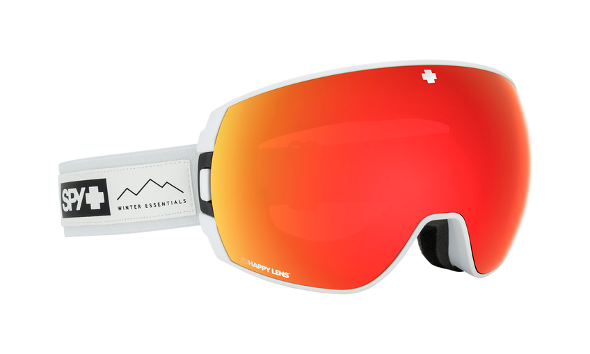 Legacy Asian Fit Snow Goggle - Essential White/Happy Grey Green w/Red Spectra (VLT:17%) + Happy Yellow w/ Lucid Green (VLT:53%)