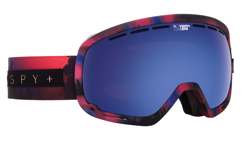 Marshall Snow Goggle - Aurora Pink/Happy Rose with Dark Blue Spectra + Happy Pink with Lucid Blue