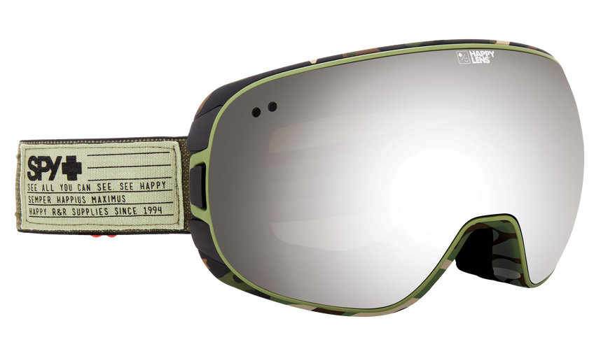 Doom Snow Goggle - Fatigue/Happy Gray Green with Silver Spectra + Happy Yellow with Lucid Green