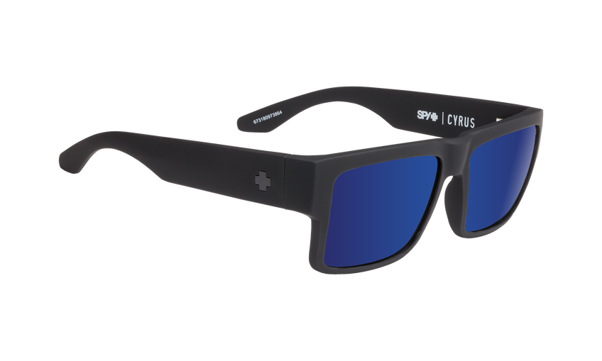 Cyrus - Soft Matte Black/Happy Bronze with Dark Blue Spectra